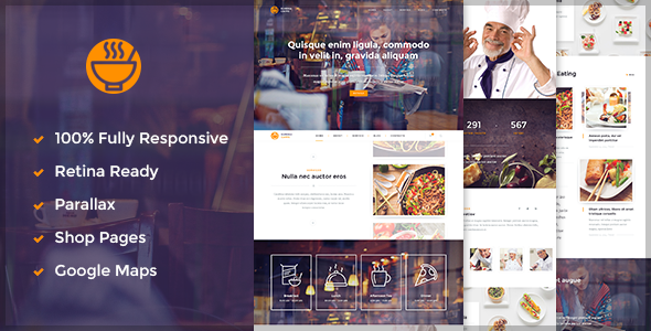 ThemeForest Caffe Restaurant Cafe HTML5 Template 9809186