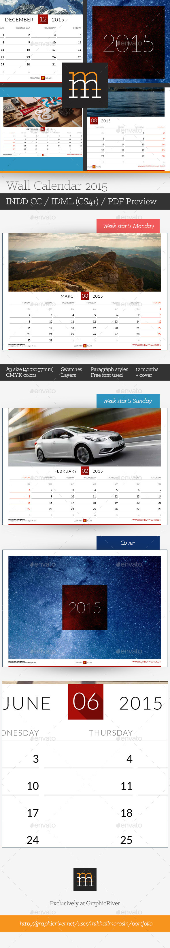 GraphicRiver Wall Calendar 2015 9809396