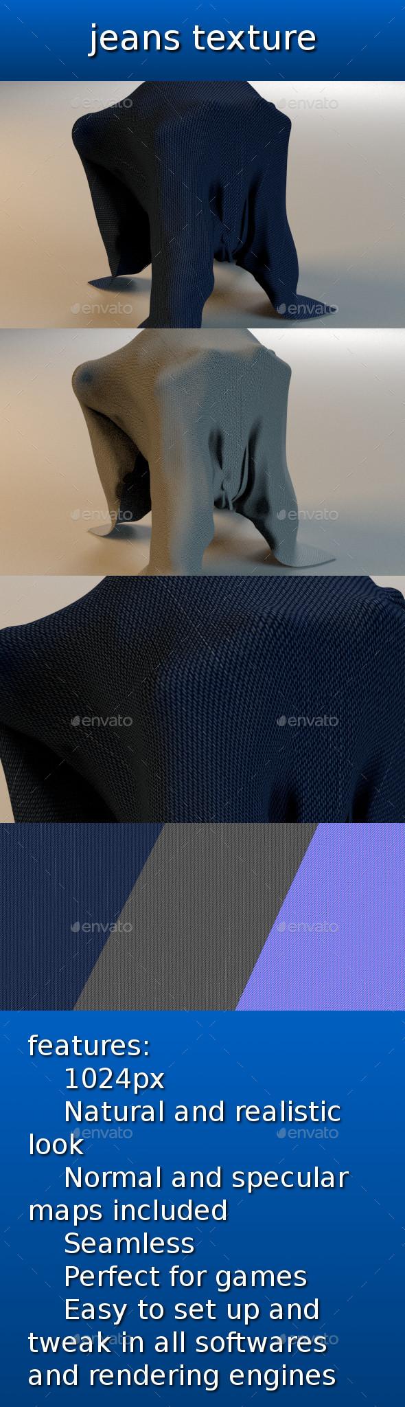 3DOcean jeans texture 9809443