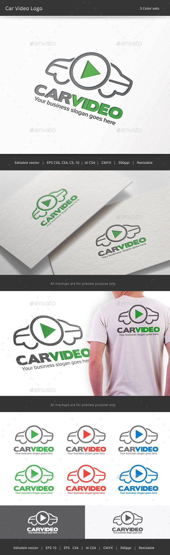 GraphicRiver Car Video Logo 9809446
