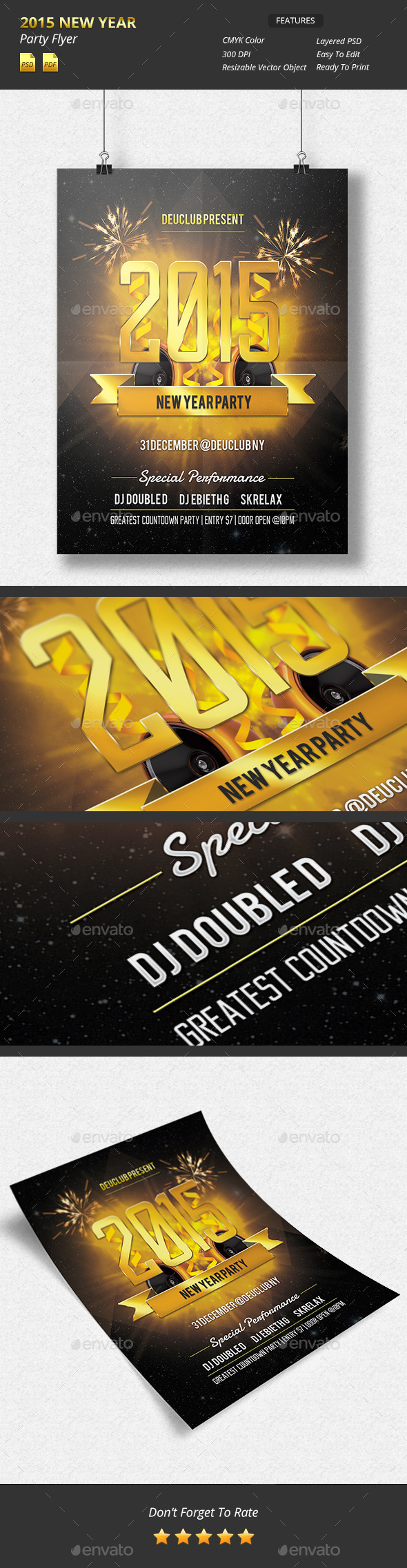 GraphicRiver 2015 New Year Party Flyer 9769027