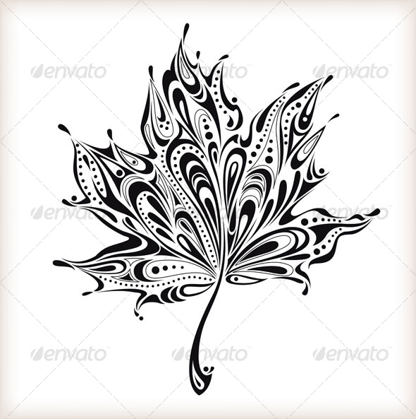 Abstract leaf - Decorative Symbols Decorative