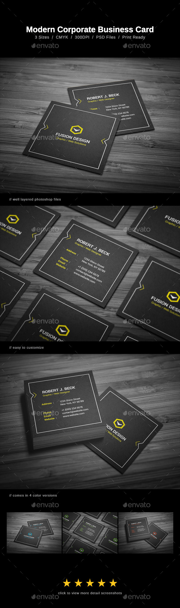 GraphicRiver Modern Corporate Business Card 9809637