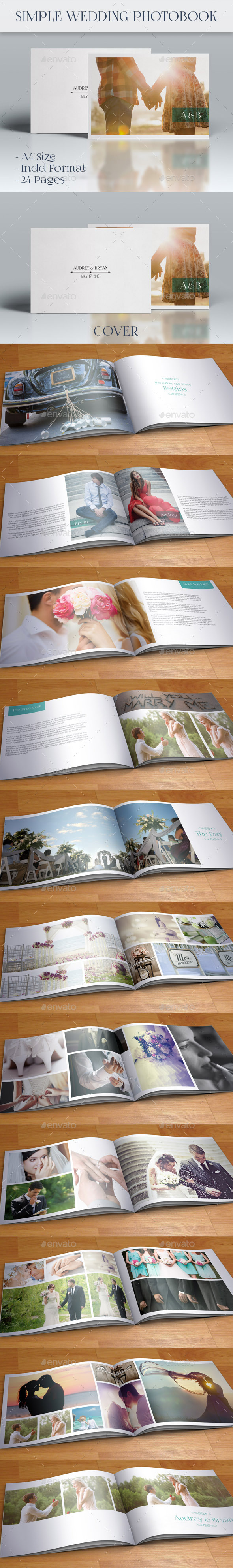 GraphicRiver Simple Wedding Photobook 9809639