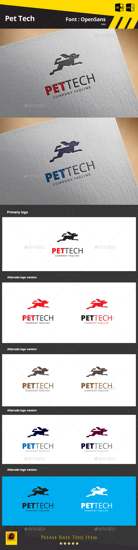 GraphicRiver Pet Tech Logo Template 9809718