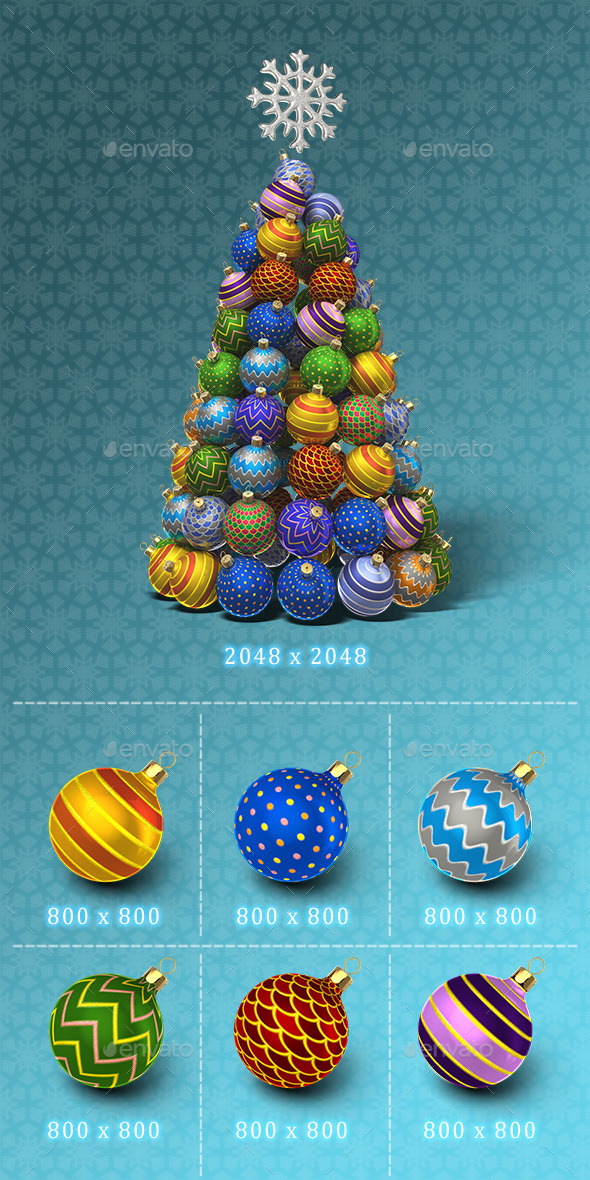 GraphicRiver New Year Tree Set 9810127
