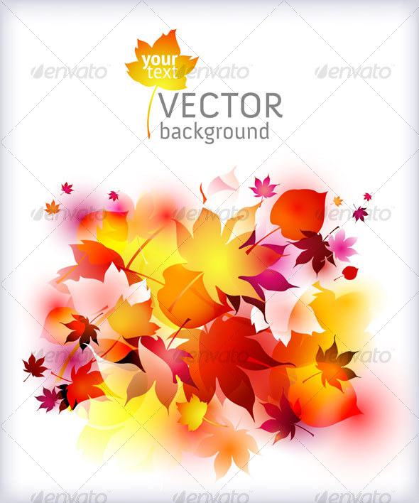 GraphicRiver Autumn background vector abstract 124667