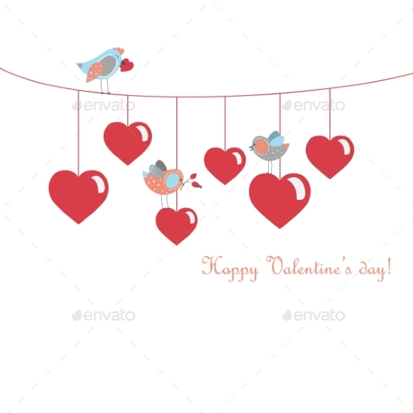 GraphicRiver Birds Celebrating Valentine s Day 9810515