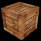 Low Poly Wooden Crate - 1 (UV; Game Asset) - 3DOcean Item for Sale