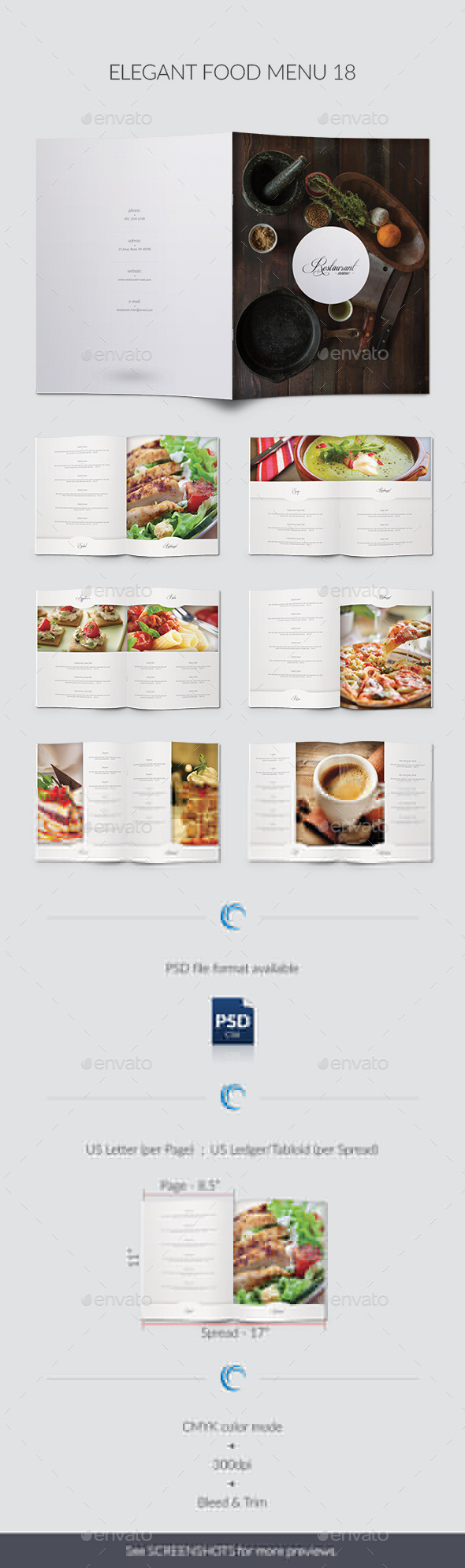 GraphicRiver Elegant Food Menu 18 9810716
