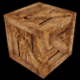 Low Poly Wooden Crate - 2 (UV; Game Asset) - 3DOcean Item for Sale