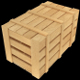 Low Poly Wooden Crate - 4 (UV; Game Asset) - 3DOcean Item for Sale