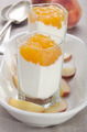 peach compote with yogurt in a shot glass - PhotoDune Item for Sale