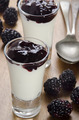 blackberry jelly and yogurt in a glass - PhotoDune Item for Sale
