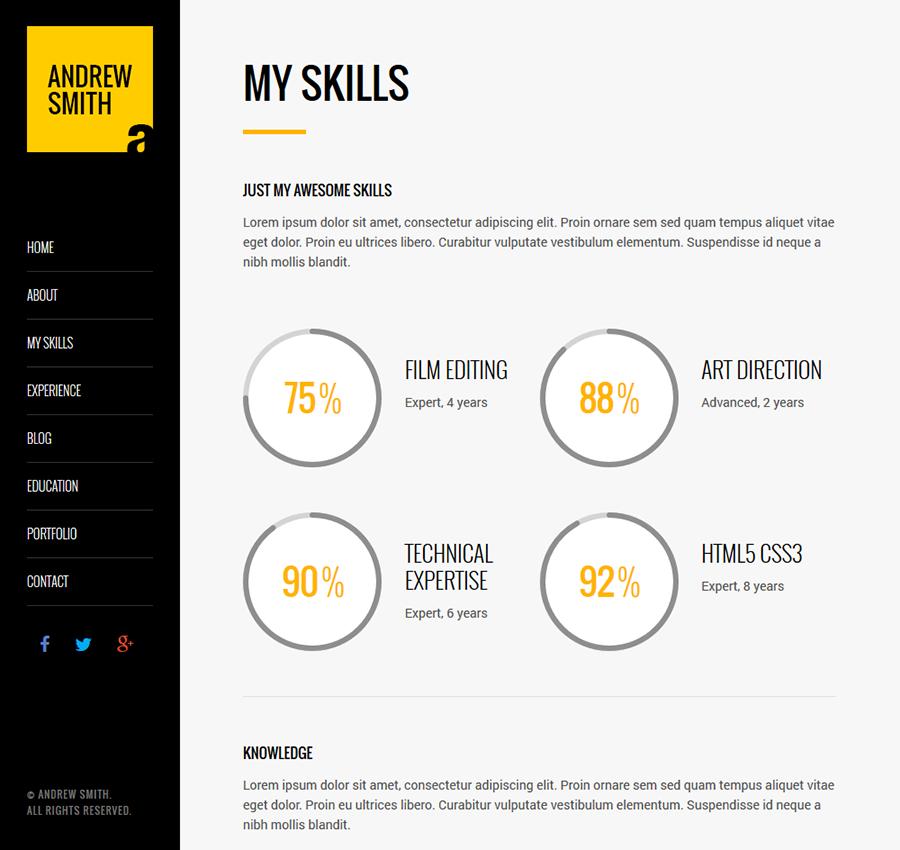 mee responsive resume cv theme themeforest