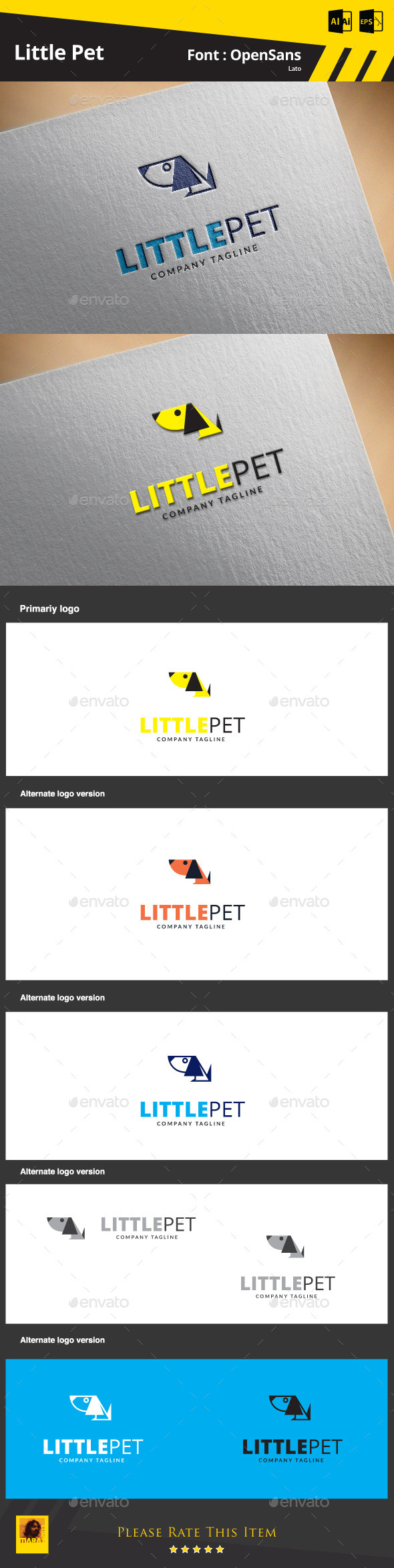 GraphicRiver Little pet Logo Template 9810965