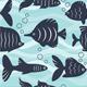 Seamless Background of Aquarium Fish - GraphicRiver Item for Sale