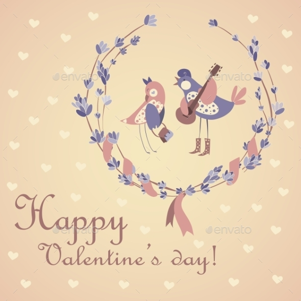 GraphicRiver Pair of Birds Celebrating Valentine s Day 9810973