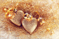 Two hearts with gold tapes - PhotoDune Item for Sale