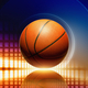 Basketball with reflection - PhotoDune Item for Sale