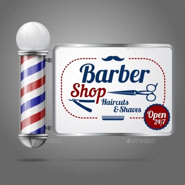 GraphicRiver Old Fashioned Barber Shop 9812395