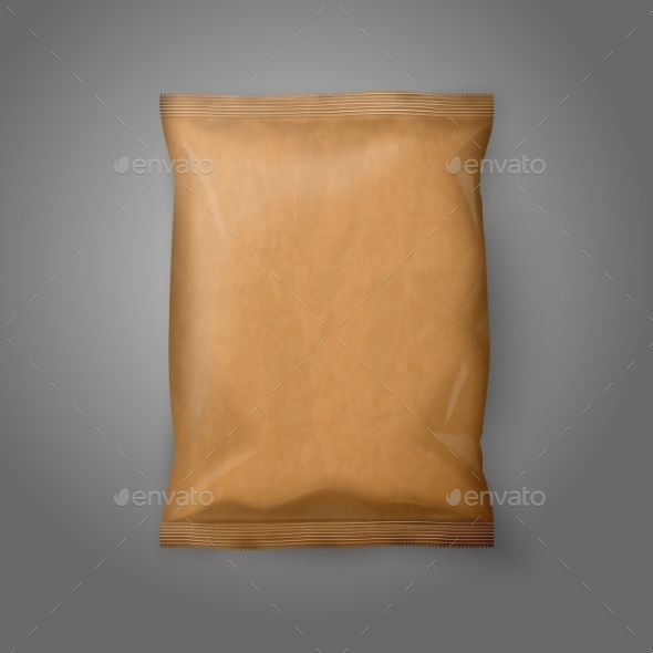 GraphicRiver Blank Paper Snack Bag 9812426
