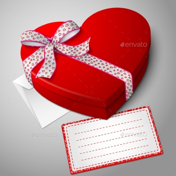 GraphicRiver Red Heart Shape Box 9812433