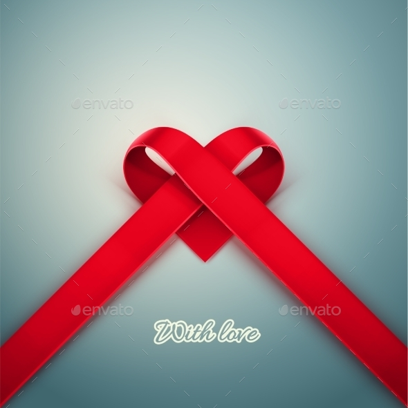 GraphicRiver Heart from Ribbon 9812434