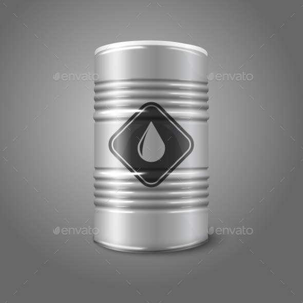 GraphicRiver Oil Barrel with Sign 9812439