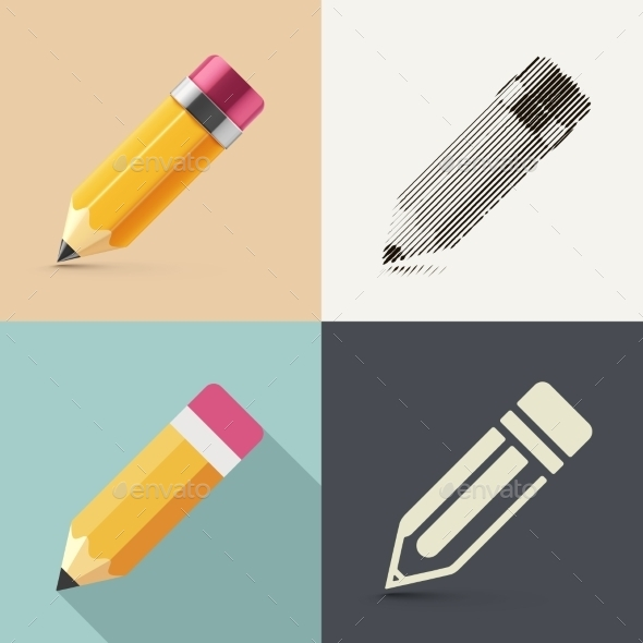 GraphicRiver Isolated Pencil 9812440