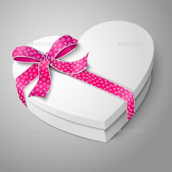 GraphicRiver White Heart Shape Box 9812444