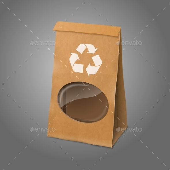 GraphicRiver Packaging Bag with Transparent Window 9812464