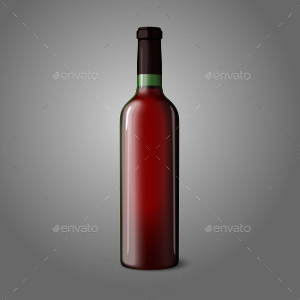 GraphicRiver Blank Red Wine Bottle 9812473