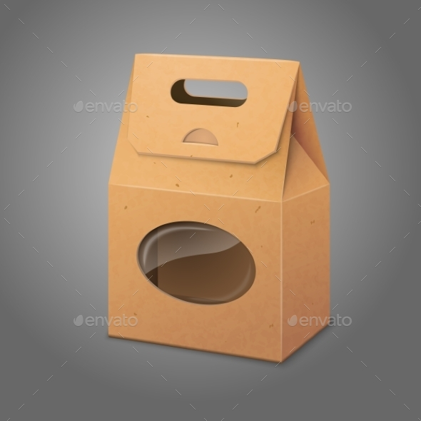 GraphicRiver Paper Packaging Bag with Transparent Window 9812479