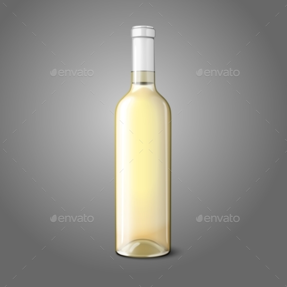 GraphicRiver White Wine Bottle 9812485