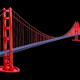 Suspension Bridge (Golden Gate Bridge) 3D Model - 3DOcean Item for Sale