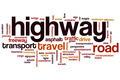 Highway word cloud - PhotoDune Item for Sale
