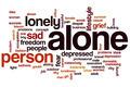 Alone word cloud