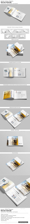 GraphicRiver Booklet Catalog Magazine Mock-Up Landscape 9812780