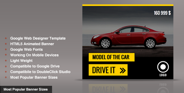 CodeCanyon New Car Ad Banner Template GWD 9812931