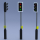Traffic Light (with pedestrian crossing panel) - 3DOcean Item for Sale
