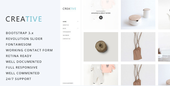 ThemeForest Creative Photography HTML5 Template 9788556