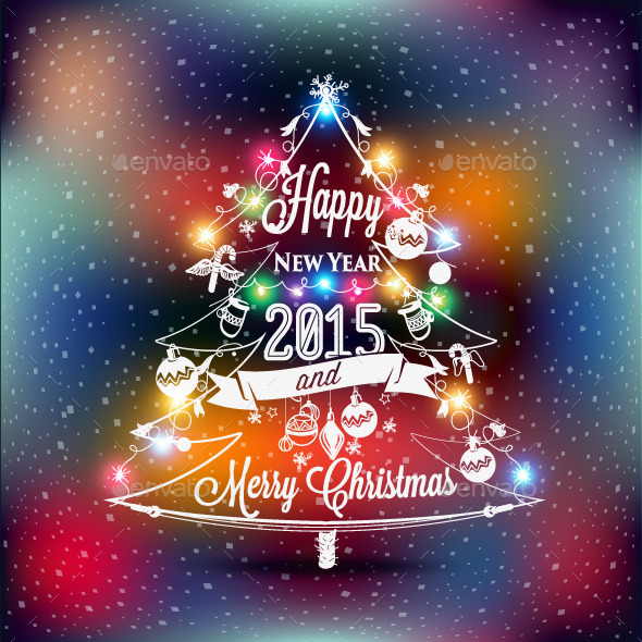 GraphicRiver Christmas and New Year Label 9813228