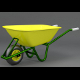 Wheelbarrow (low poly) - 3DOcean Item for Sale