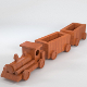 Wooden train toy (UV-unwrapped) - 3DOcean Item for Sale