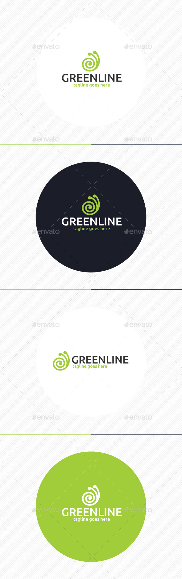 GraphicRiver Green Line Logo 9813459