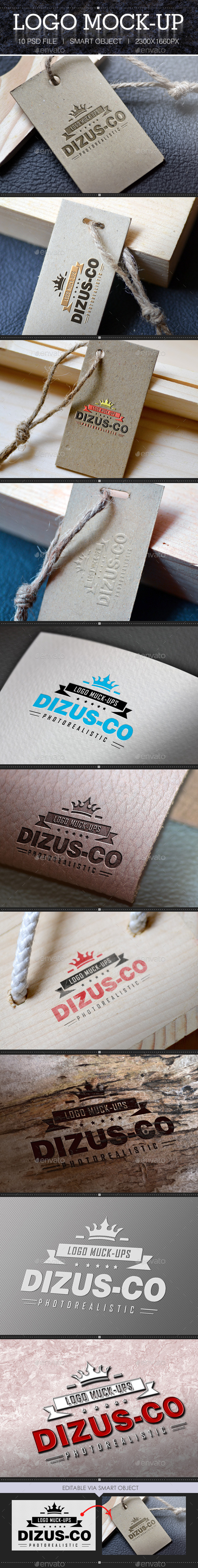 GraphicRiver 10 Photorealistic Logo Mock-Ups 9813468