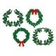 Christmas Holly Garlands Set - GraphicRiver Item for Sale