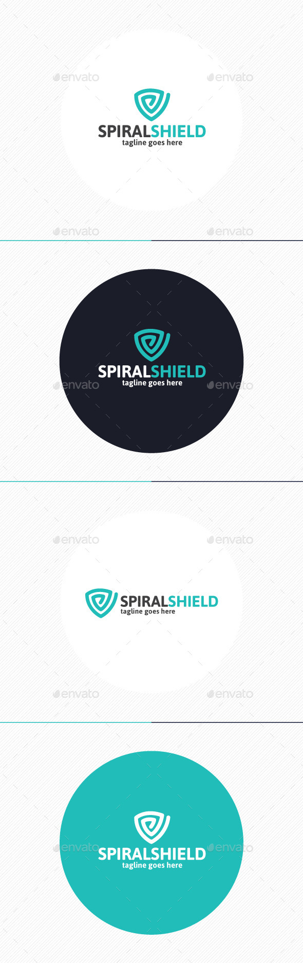 GraphicRiver Spiral Shield Logo 9813591