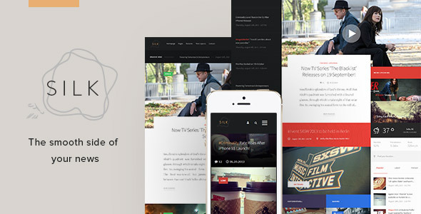 ThemeForest Silk Creative News HTML Template 9359402